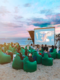 <Beach Cinema, an Idea for Relaxation and Enjoyment of Watching Movies