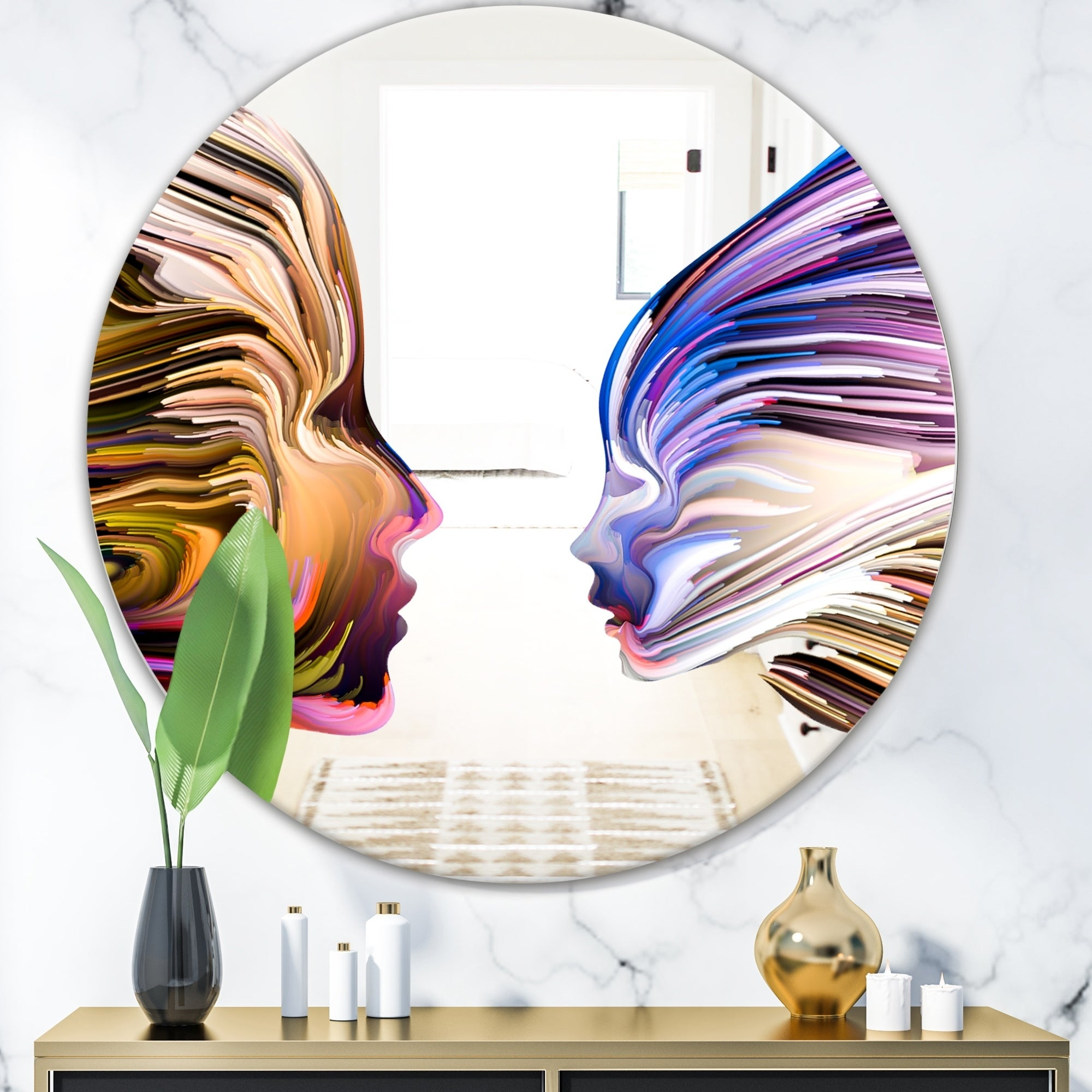 Painting On Mirrors, A New and Artistic Idea