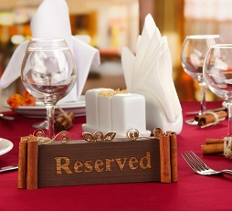 Reservation Software and Display of Restaurant Tables