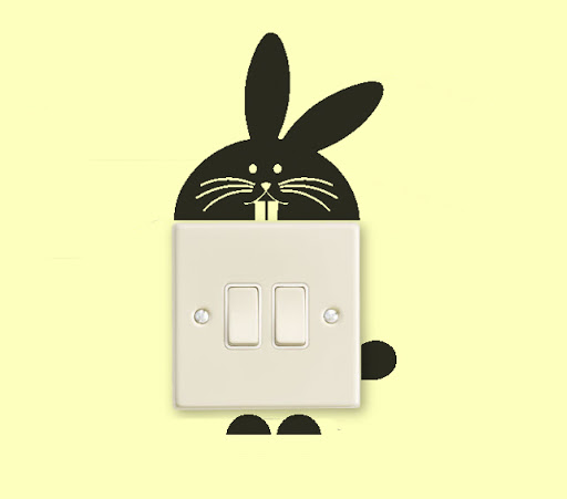 Wall Plug Decal Sticker, A Funny and Interesting Idea