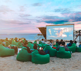 Beach Cinema, an Idea for Relaxation and Enjoyment of Watching Movies