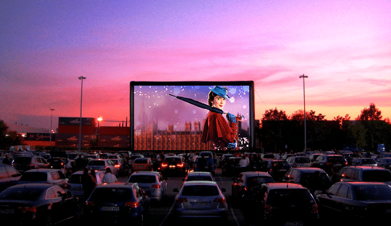 Drive-In Cinema, A Practical and Useful Idea